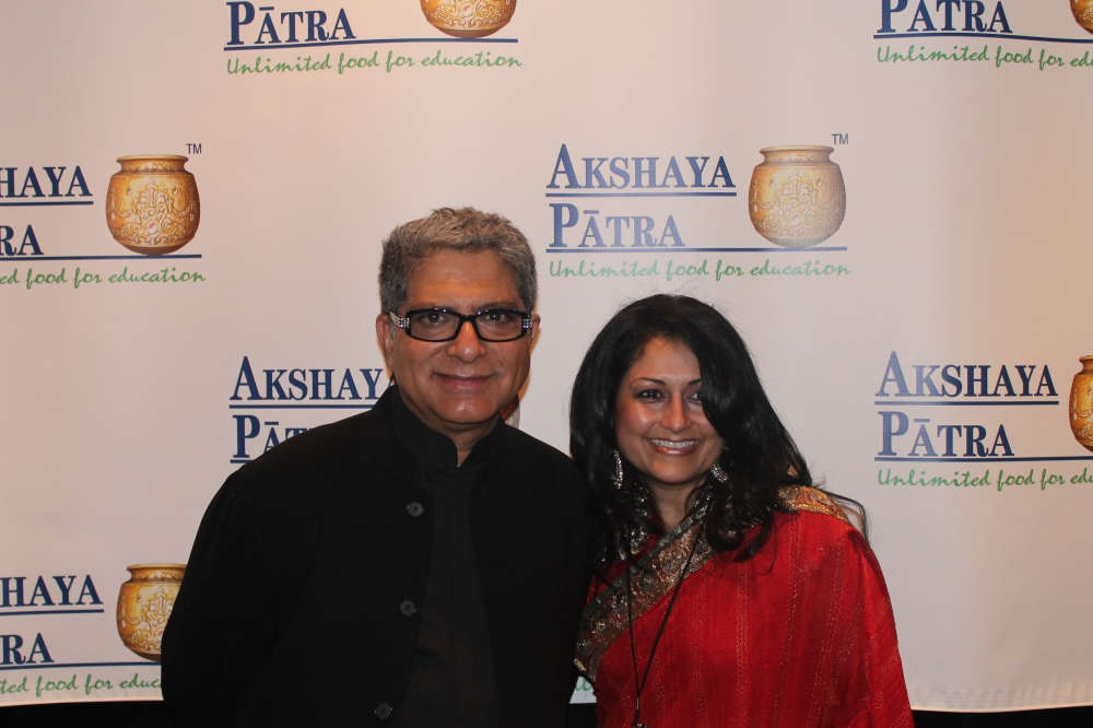 Deepak & Malika at The Akshaya Patra Foundation Fundraiser. Image Source: Malika Garrett