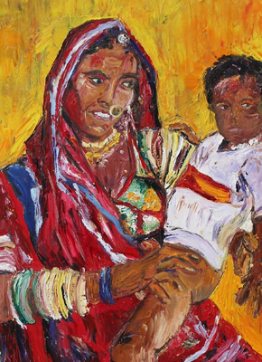 Raika Mother & Child available at www.malikagarrett.com
